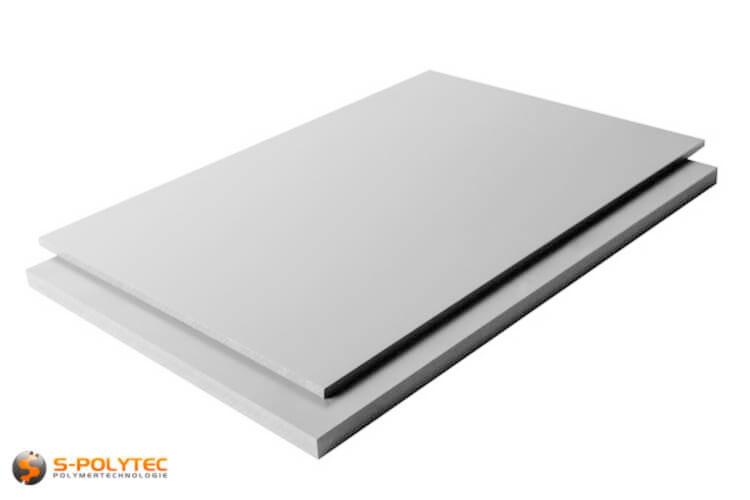 PVC sheets lightgray 2,0 x 1,0 Meter - buy online now