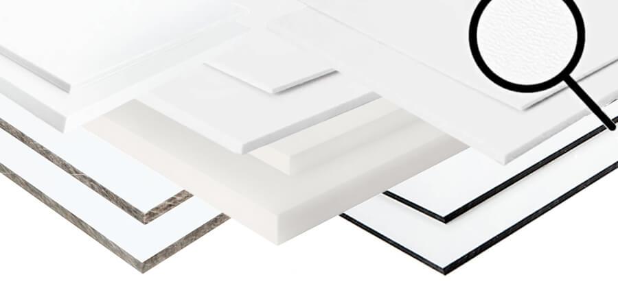 Weiße Kunststoffplatten im Überblick