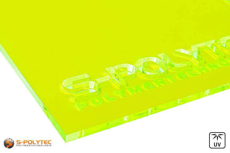Acrylic glass yellow fluorescent (Lasercut)
