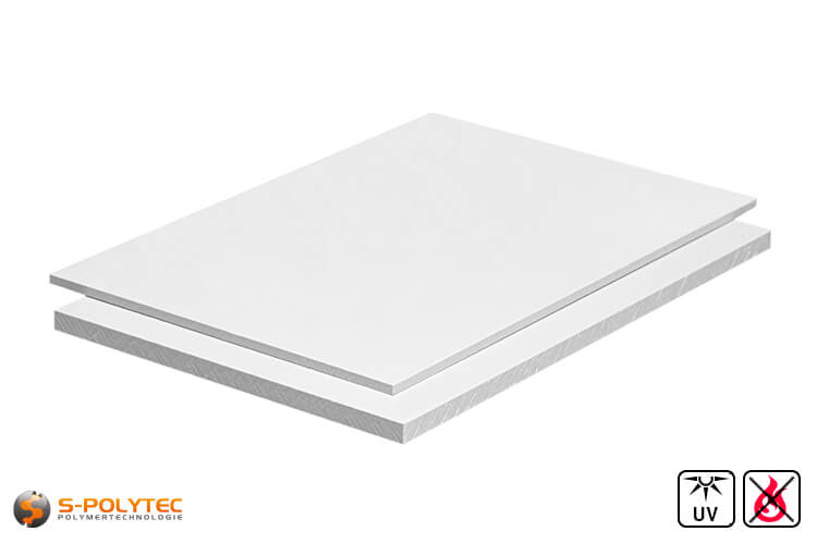 PVC Sheets white hard PVC (PVCU) from 1mm to 4mm thickness in 2,0 x 1,0 meters