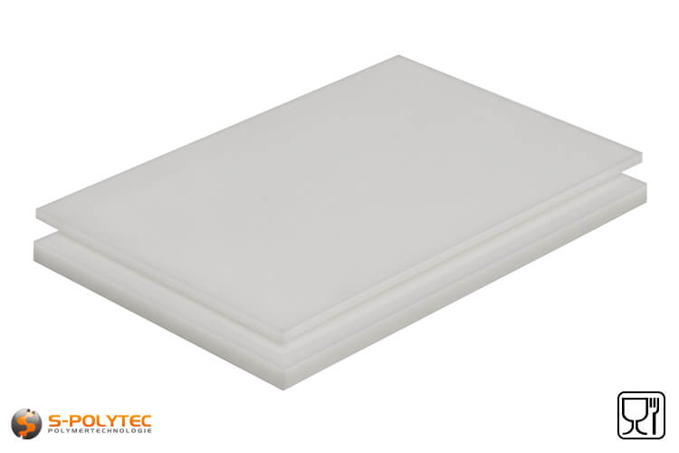 Polypropylene sheets (PP-H) natural as standard size sheets 2.0 x 1.0 meters from 1mm to 40mm thickness