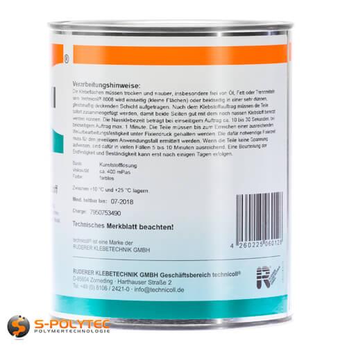 Plasticglue Technicoll 8008 specially for gluing plastics with metall