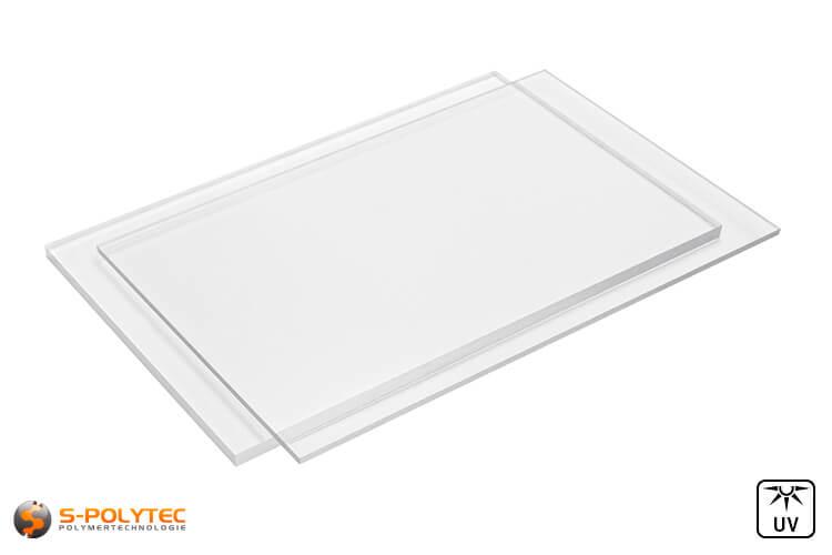 PC transparent sheets in custom cut in thicknesses from 3mm to 8mm - detailed viewuschnitt in Stärken von 3mm bis 8mm - Detailansicht