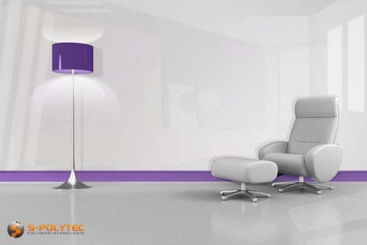 DecoVitas Snow-White 1.0mm thickness - self-adhesive, high glossy decor-panels white in custom cut