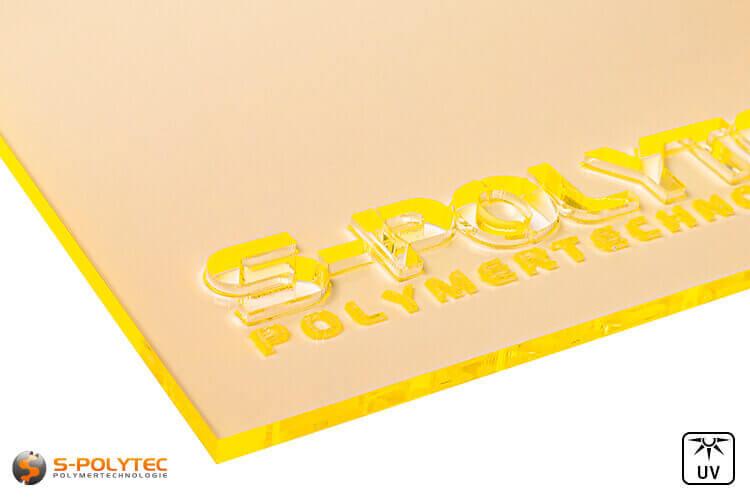 Acrylic sheets yellow fluorescent (Lasercut)