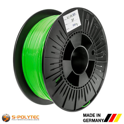 0.75kg high quality PLA filament light green (nearly RAL6018, Yellow green)  for 3D printing - Made in Germany