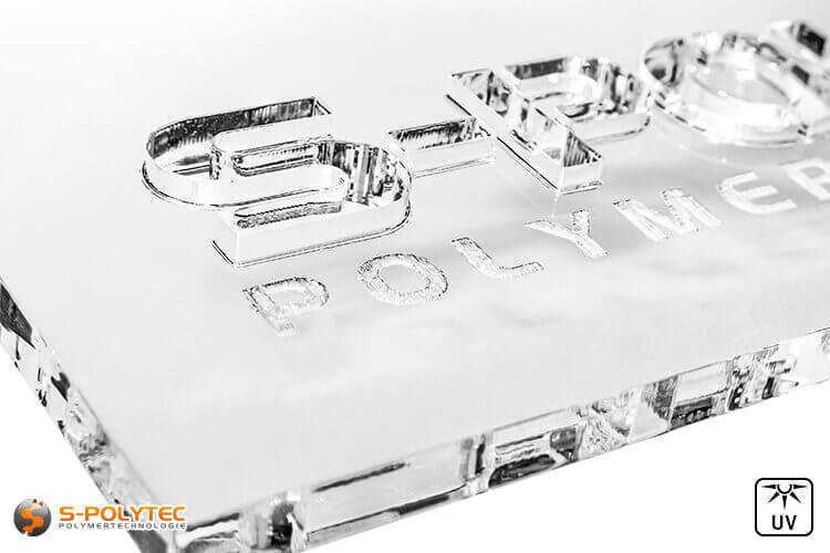 Parts in lasercut from acrylic sheets (PMMA) in colorless, transparent