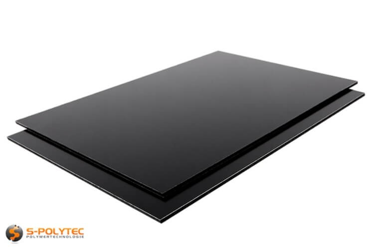 Aluminium composite panels 3mm (dibond) in black in custom cut