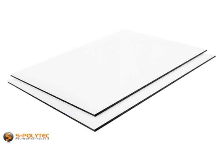 Aluminium composite panels 3mm (dibond) in white in custom cut