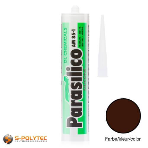 Silicone Parasilico AM-85 darkbrown in RAL8016 (mahoganybrown)