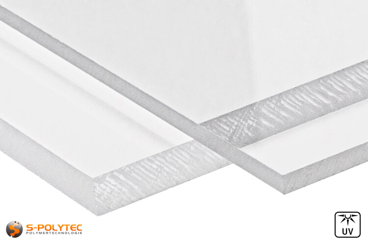 PC transparent sheets in custom cut in thicknesses from 3mm to 8mm - detailed view