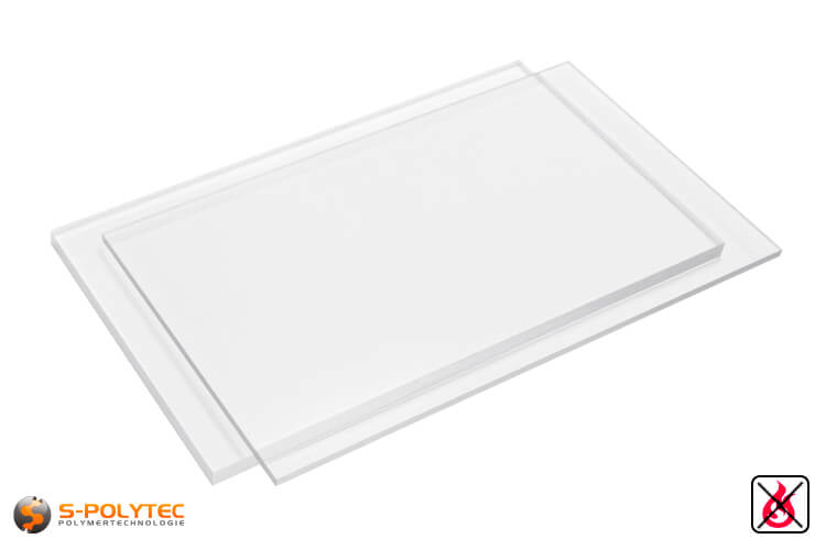 PVC Sheets transparent hard PVC (PVCU) from 1mm to 15mm thickness in 2,0 x 1,0 meters