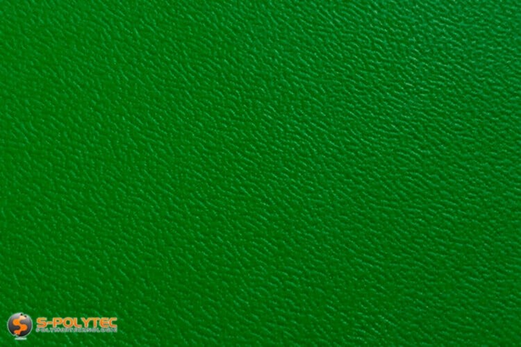 Polyethylene (PE) sheets green (nearly RAL 6005) both side grained 19mm custom cut - detailed view