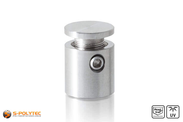 Wall spacer stainless steel 13x13mm flat version