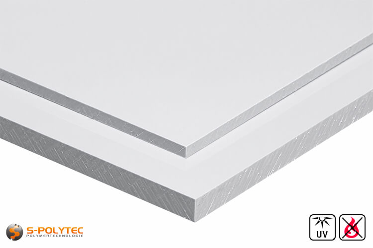 PVC Sheets white hard PVC (PVCU) from 1mm to 4mm thickness - detailed view