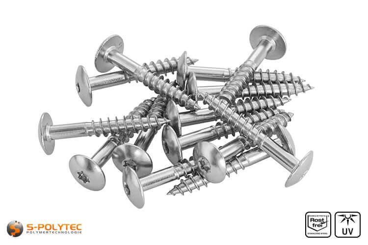 HPL screws stainless steel unpainted
