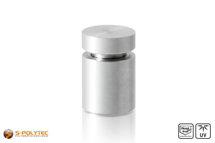 Wall spacer stainless steel 13x13mm screwable version