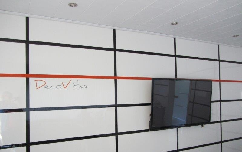 DecoVitas Snow-White 3.0mm thickness - high glossy decor-panels white in custom cut