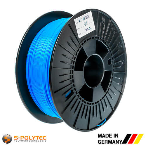 0.75kg high quality PLA filament blue (nearly RAL5005, Signal blue)  for 3D printing - Made in Germany