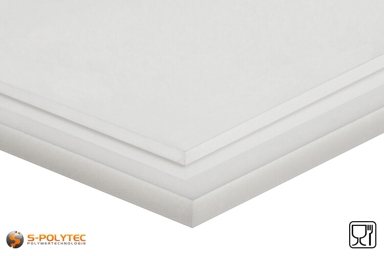 Polypropylene sheets (PP-H) natural as standard size sheets 2.0 x 1.0 meters - detailed view