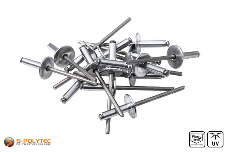 Facade rivets aluminium (unpainted)