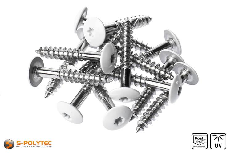HPL screws pure white (RAL 9010)