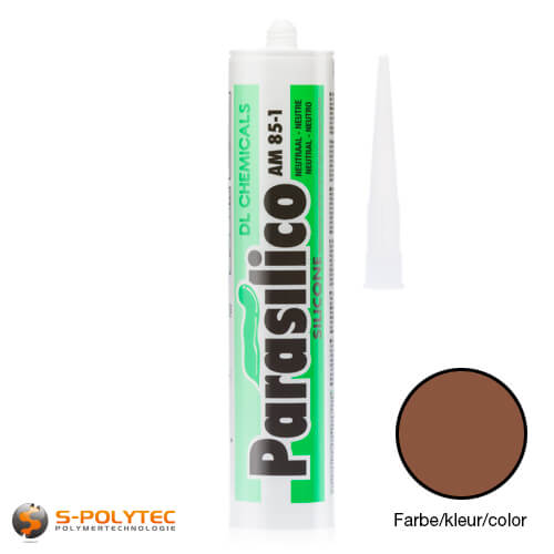 Silicone Parasilico AM-85 lightbrown in RAL8003 (clay brown)