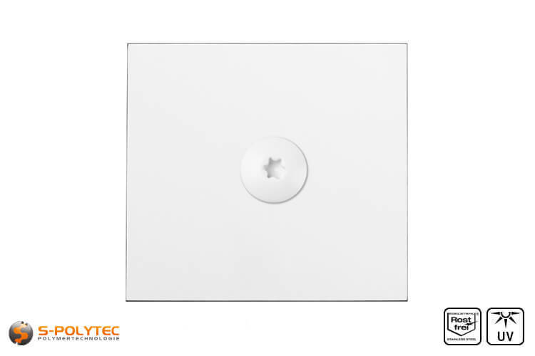 HPL panel with hpl screw in traffic white