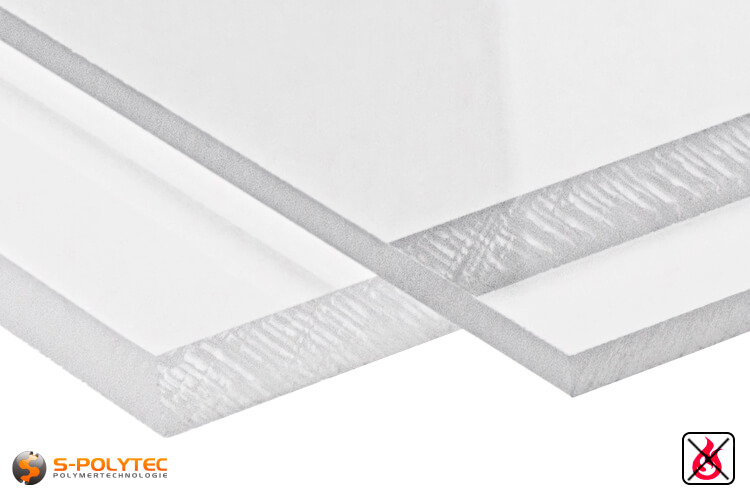 PVC Sheets transparent hard PVC (PVCU) from 1mm to 15mm thickness - detailed view