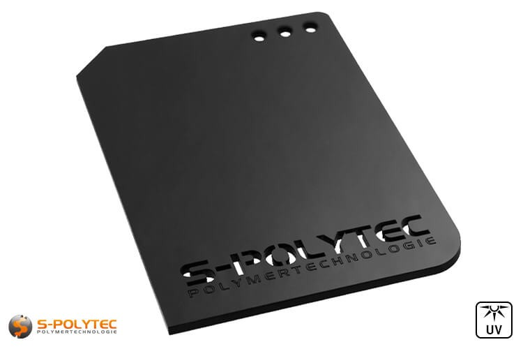 Acrylic glass plates in black are available as individual laser cuts up to a total size of 1500mmx980mm