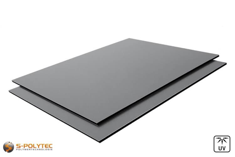 Aluminium composite panels 3mm (a.k.a. dibond) in dusty grey in custom cut