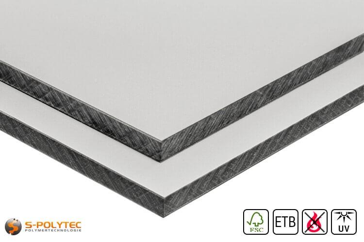 HPL sheet leght grey with en hpl screw