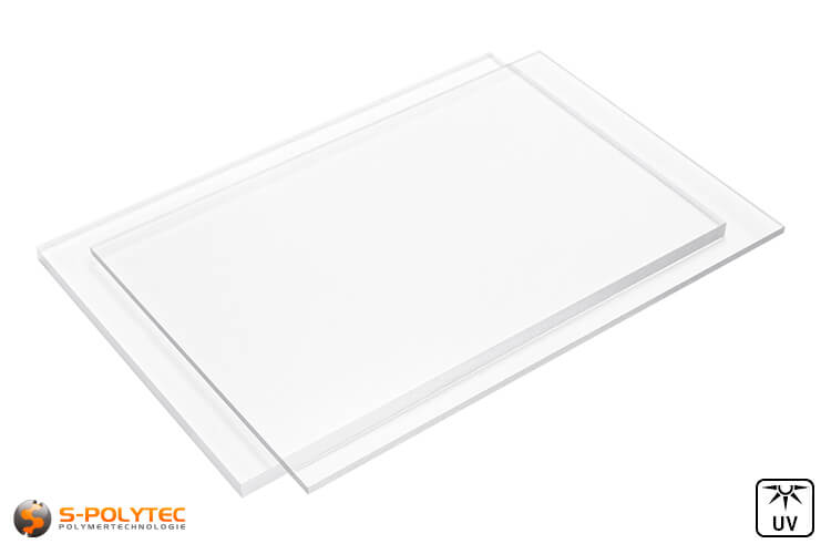 Acrylic glass (PMMA) transparent from 2mm to 10mm thickness in custom cut