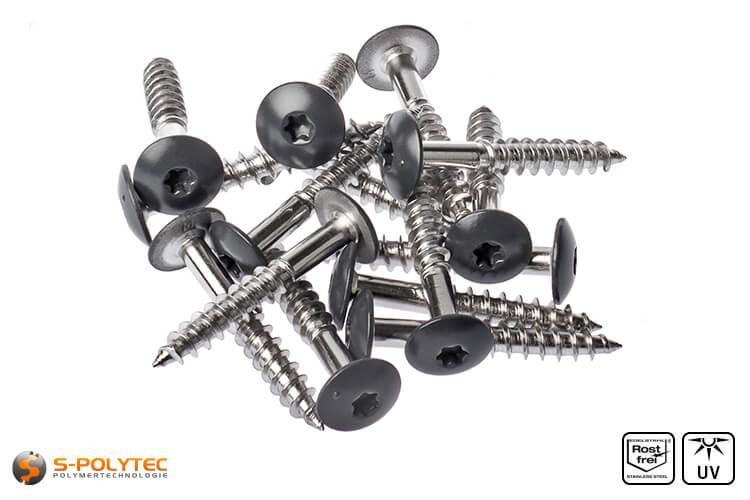 HPL screws anthracite grey (RAL 7016)
