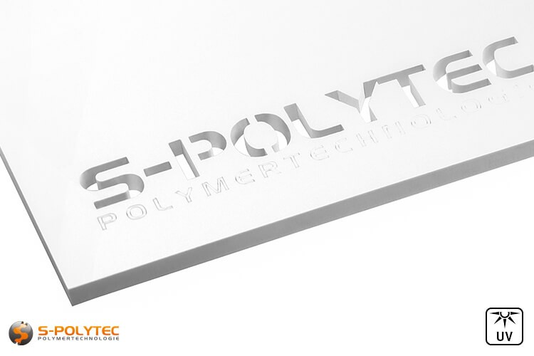 Laser cuts from white acrylic glass in 3mm thickness