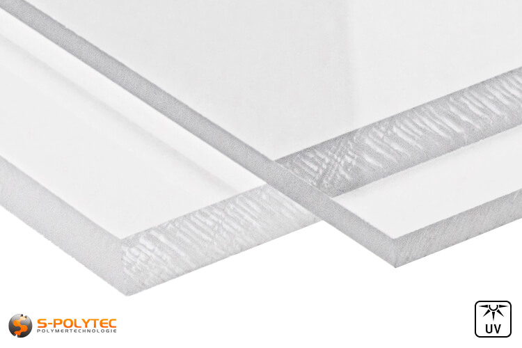 Acrylic glass (PMMA) transparent from 2mm to 10mm thickness in custom cut - detailed view