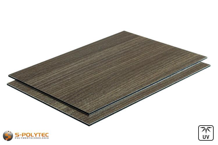 Aluminium composite panels 3mm (dibond) in wood decor ash in custom cut