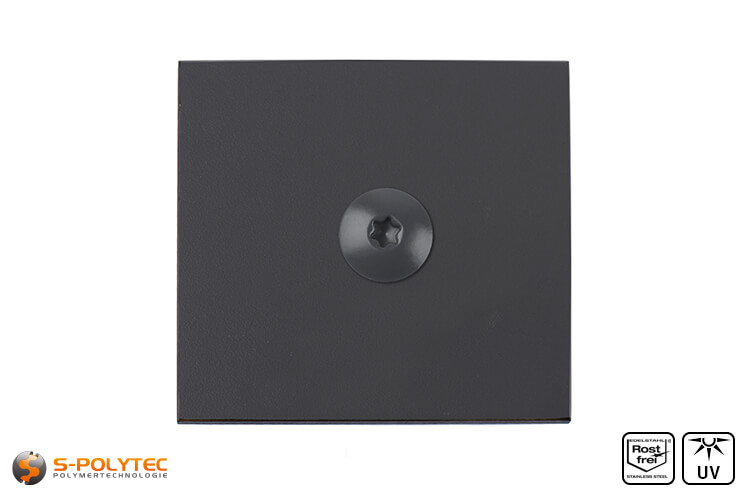 HPL panel with HPL screw anthracite