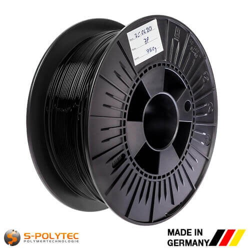 0.75kg high quality PLA filament black for 3D printing - Made in Germany