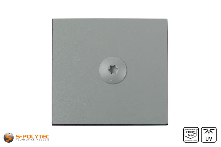 HPL Platte mit HPL Schraube Staubgrau