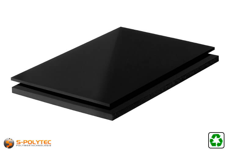 ABS sheets black regenerated cut to size