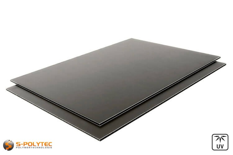 Aluminium composite panels 3mm (dibond) in anthracite in custom cut
