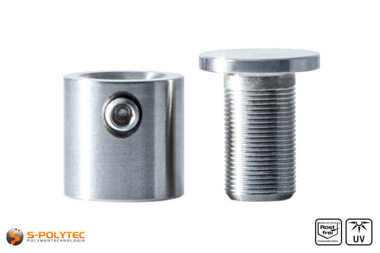 Spacer and cover cap 13x13mm made fo stainless steel