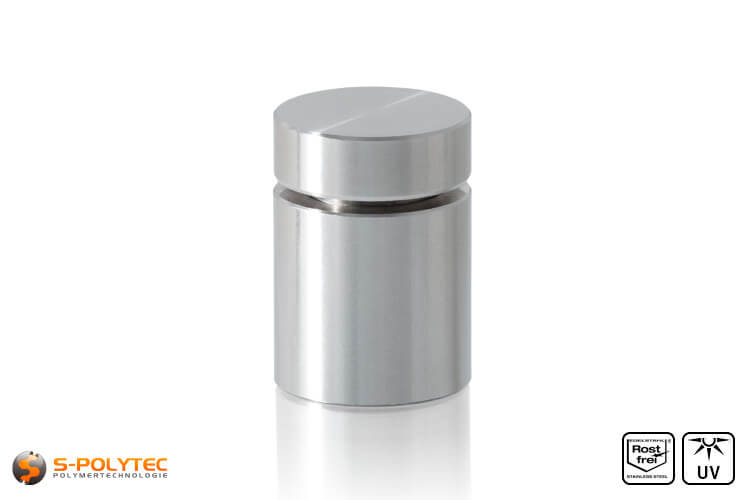 Wall spacer stainless steel 15x15mm screwable version