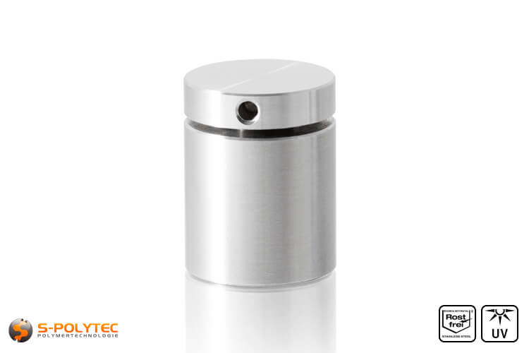 Wall spacer stainless steel 25x25mm screwable version