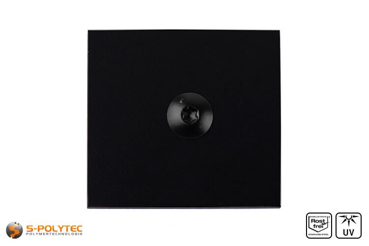 HPL sheet jet black with en hpl screw